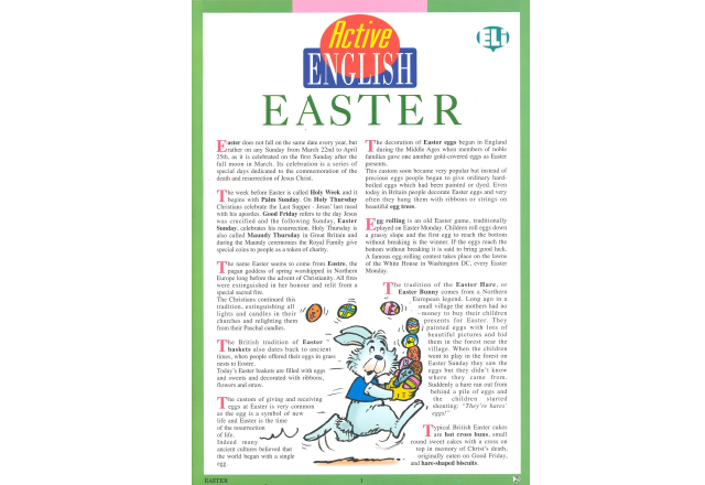 Active English - Easter