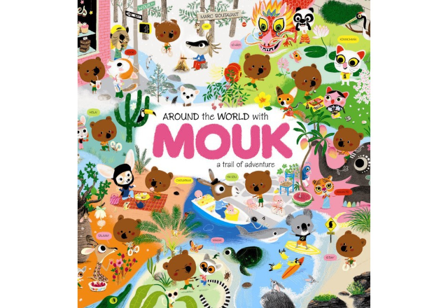 Around the World with Mouk sticker book
