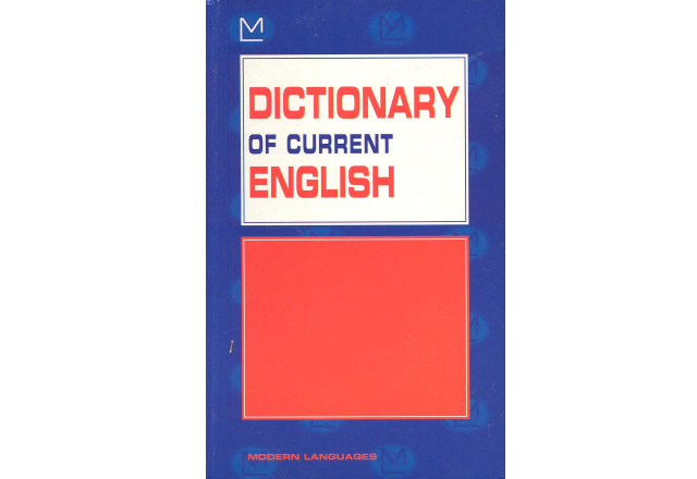 Dictionary of current English