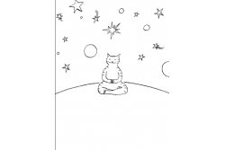 The Meditating Cat - A Zen colouring book