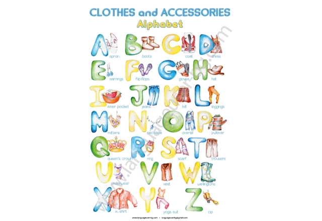 "ABC poster ""Clothes and accessories"" - постер"