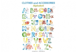 """ABC poster """"Clothes and accessories"""" - постер"""