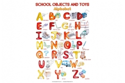 "ABC poster ""School objects and toys"" - постер"